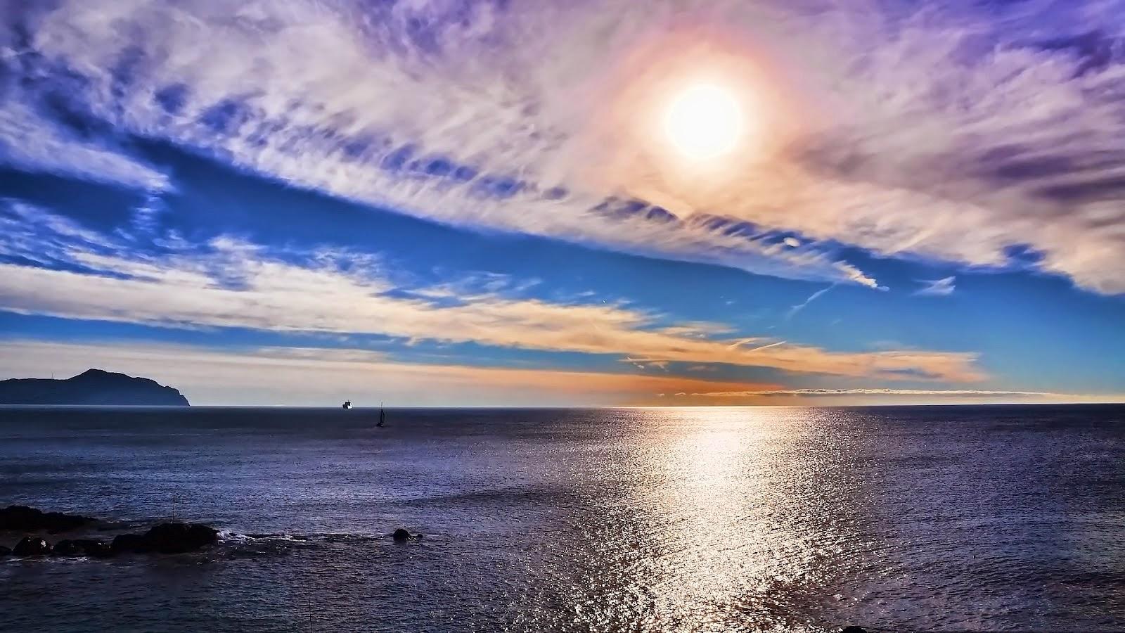 Wallpaper Kualitas HD Sunset PC Dekstop Mikomorganisa